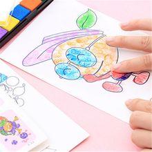 8PCS% 2Fset + палец + живопись + карта + 6 + цвета + чернила + подушечка + штамп + мультфильм + животные + сделай сам + ремесло + обучение + образование + рисунок + игрушки + для + детей + малыш