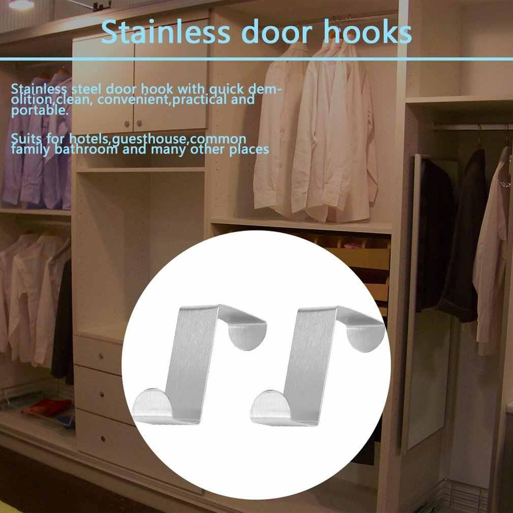 2 Stuks Roestvrijstalen Keuken Kast Trekken Haken Keukenkast Trekken Handdoek Kleding Pothook Kleerhanger Houder