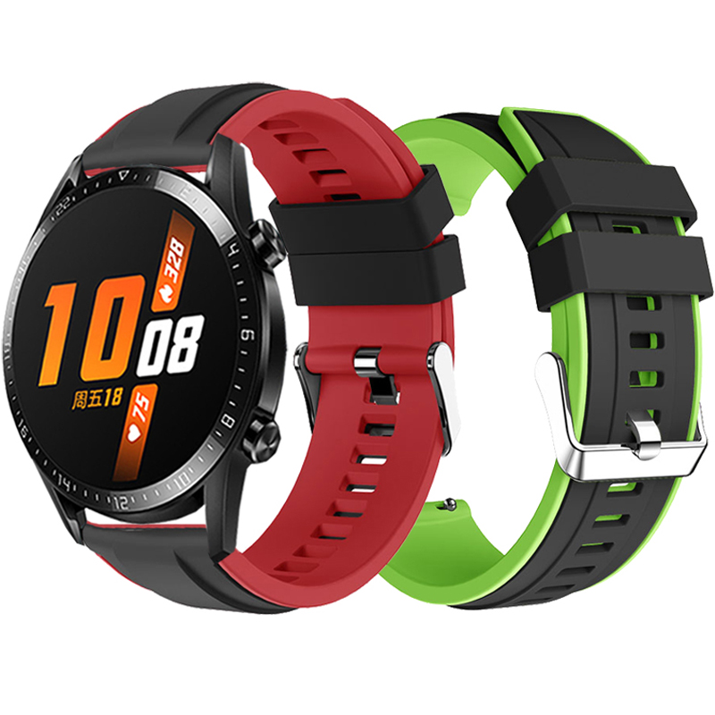 22MM Silicone Wrist Strap For Huawei WATCH GT2 2 46MM Gt 2 Pro Smart Bracelet Sport Watch Band For Huawei GT Active 46MM Correa