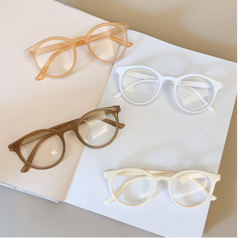 He2952da1cb8d4f7b8b7a474e7c6fec07C - VWKTUUN Round Glasses Frame Vintage Soild Candy Color Eye Glasses Frames For Women Clear Lens Myopia Computer Glasses