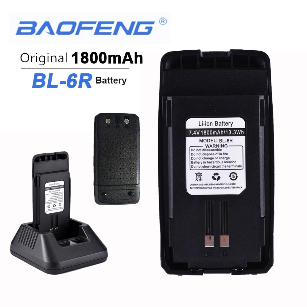 New Original Baofeng UV6R Walkie Talkie Battery 7.4V 1800mAH 13.3Wh BL-6R UV-6R Boafeng Headset Anytone Clip Baofeng Hands Free