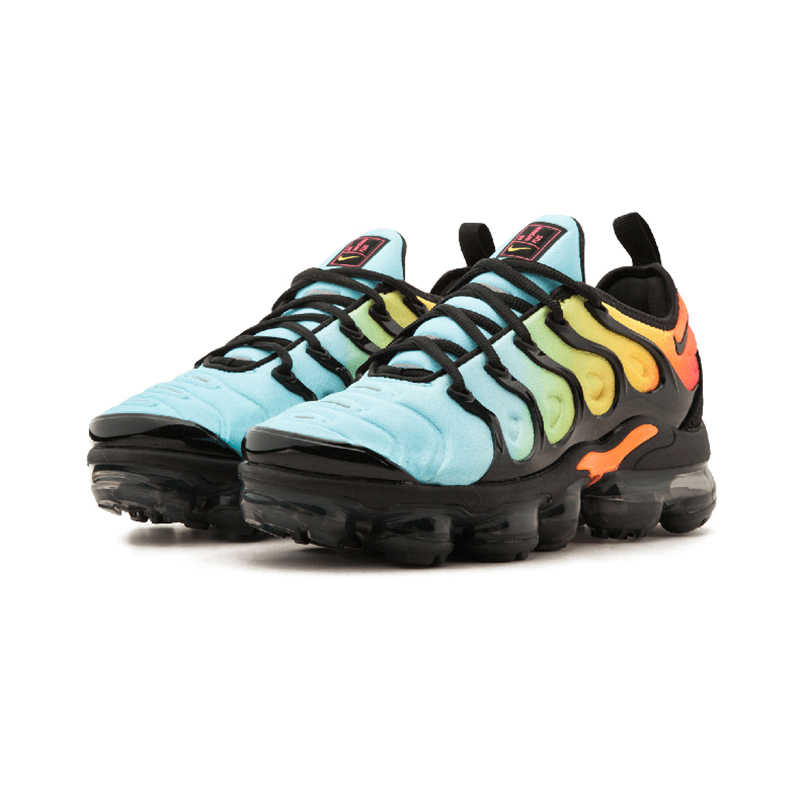 NIKE AIR VAPORMAX плюс кроссовки Мужская дышащая Беговая спортивная обувь на шнуровке высокого качества спортивная Дизайнерская обувь AO4550-001