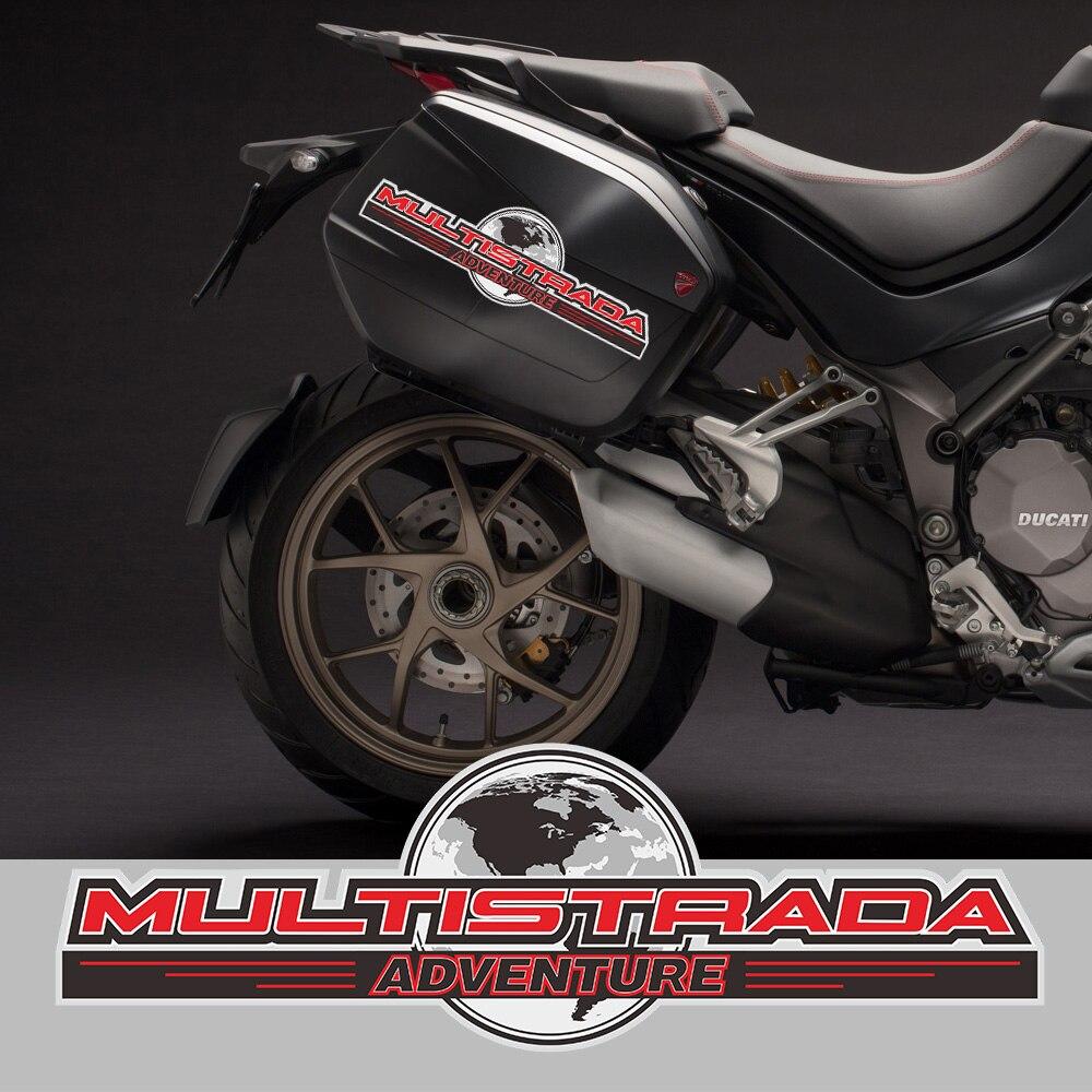 Ducati Multistrada hardbag reflective decals