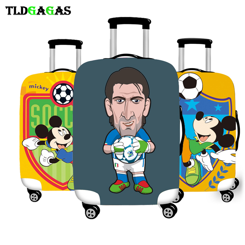 Elastic Luggage Protective Cover Case For Suitcase Protective Cover Trolley Cases Covers Xl Travel Accessories Mickey Football T