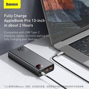 Baseus PD 65W Power Bank 20000mAh QC 4,0 Tragbare Lade Externe Batterie Ladegerät Power Für iPhone Xiaomi Macbook poverBank