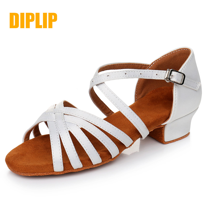 DIPLIP Selling New Children Ballroom Dance Shoes Kids Child Girl's Latin Tango Dance Shoes Soft Girls Shoes Salsa
