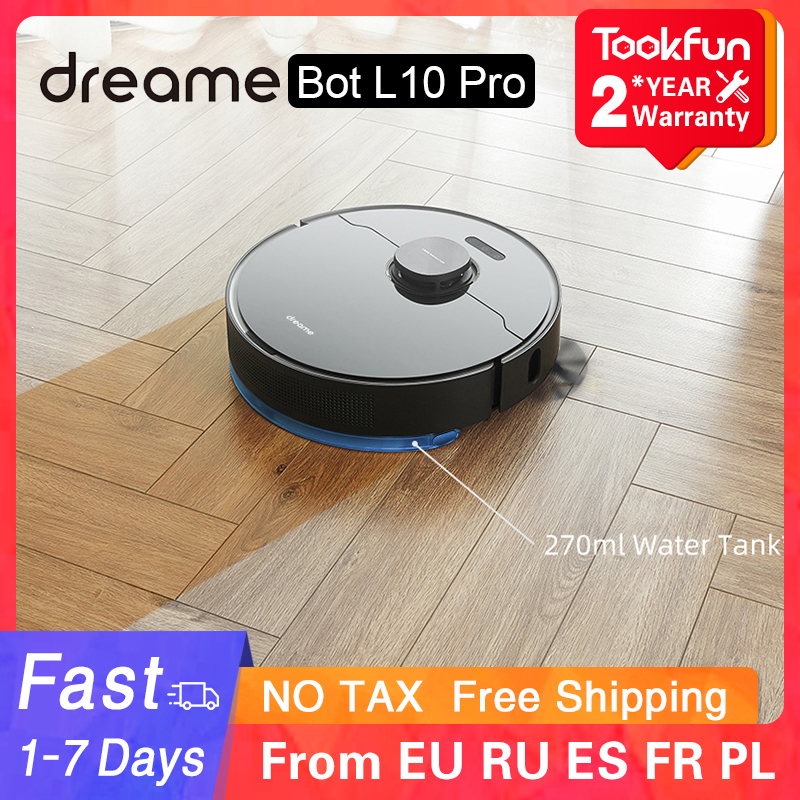 Dreame Bot L10 Pro Robot Vacuum Cleaner For Home Sweeping Washing Mopping 4000PA Cyclone Suction Dust XIAOMI APP Smart Planned