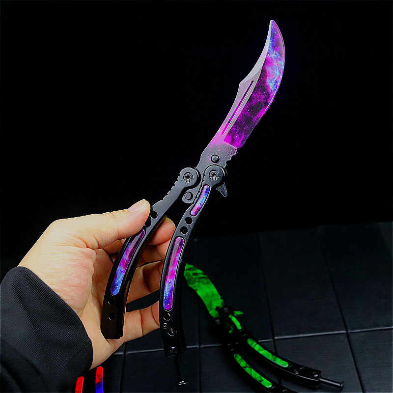 CS бабочка тренировочный нож CS коготь нож складной коготь карманный складной нож Заводская оптовая цена для продажи
