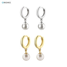 Kikichicc 925 Sterling Silver Pearl Drop Hoops Luxury Pendentie 2020 Valentiens Best Gift Clips Piercing Wedding Jewelry