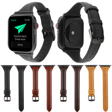 Genuine Calfskin Leather Watch Strap for Apple Watch Band Series 3/2/1 42/38mm Sport wrist Bracelet For iwatch 4 Bands 44mm 40mm все цены
