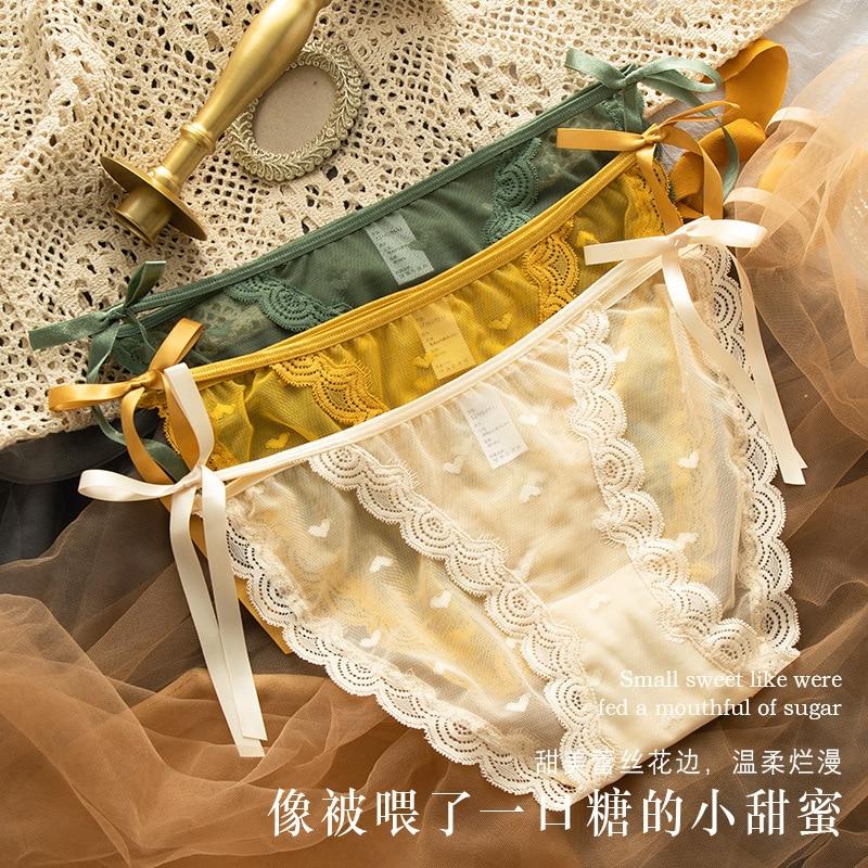 KNOWDREAM сексуальное нижнее белье женские перспектива кружево японский милый галстук носовой ультра-тонкие модные трусы трансграничной