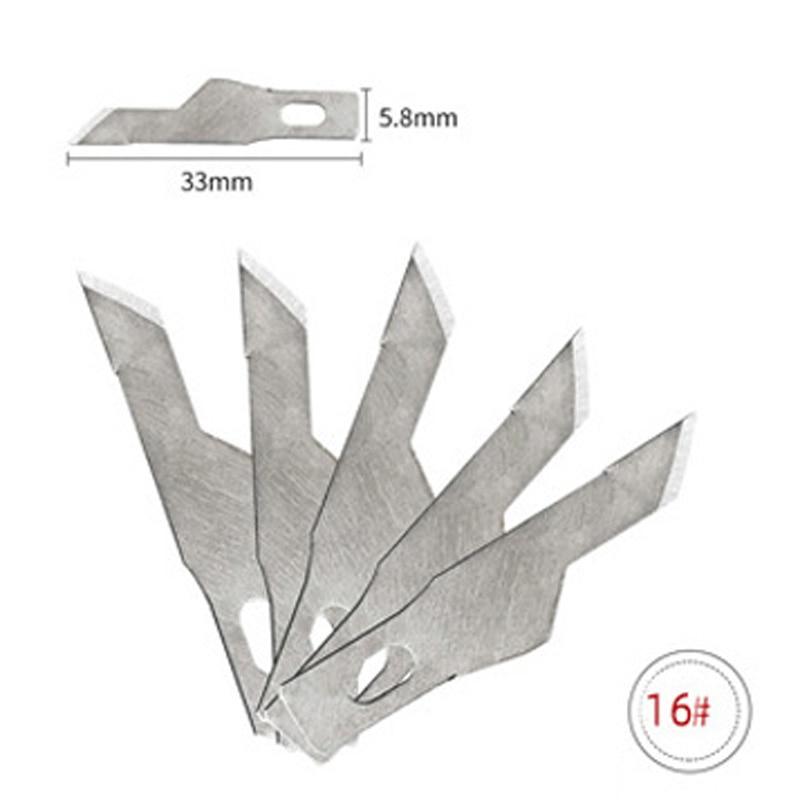 1 шт. Нескользящие металлические лезвия для резьбы по дереву инструменты еда скульптура гравировка нож для канцелярские творческие принадлежности - Цвет: No.16