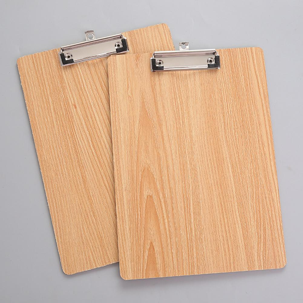 A4 Size Wooden Clipboard Clip Board Office School Stationery With Hanging Hole папка для документов сумка для документов