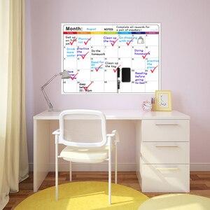 Image 5 - Magnetico Mensile Lavagna Calendario Cancellabile Fridge Magnet Sticker Piano Settimanale Quotidiana Lista Della Spesa To Do List Notepad Memo Board