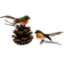 10PCS/set Robin Bird Christmas Tree Decor Craft Very Cute Artificial Feather Xmas Wedding Doves Ornament