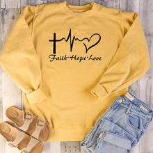 faith hope love hoodies women pink clothing womens cotton casual letter pullovers streetwear oversized sweatshirt gothic