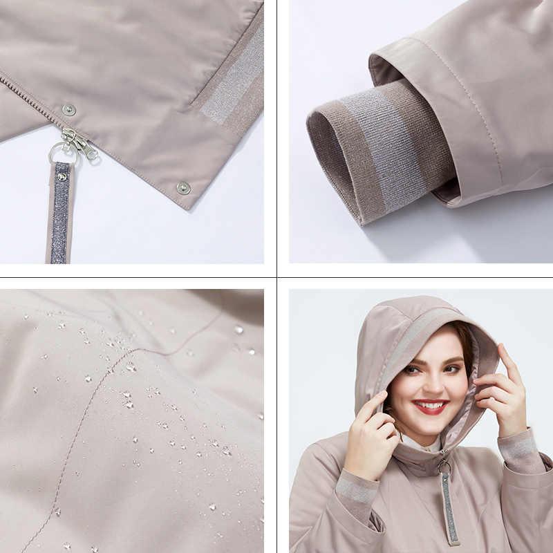 אסטריד 2020 אביב הגעה חדשה מעיל נשים חם דק כותנה בגדים רפויים בתוספת גודל ארוך מעילי רוכסן נשי מעיל AM-9375