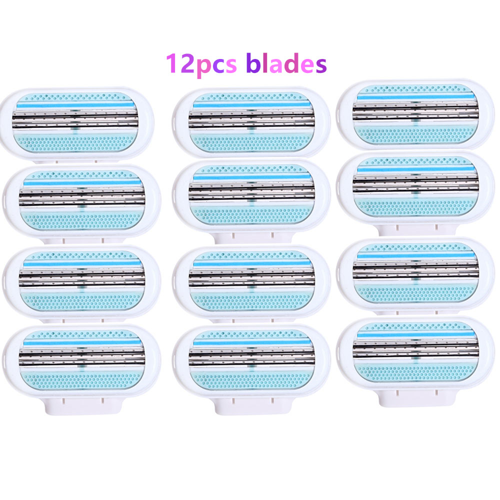 Hot! 4pcs/lot Beauty Shaving Razor Blade For Women High Quality Safety Female Sharpener Razor Hair Removal For Venuse
