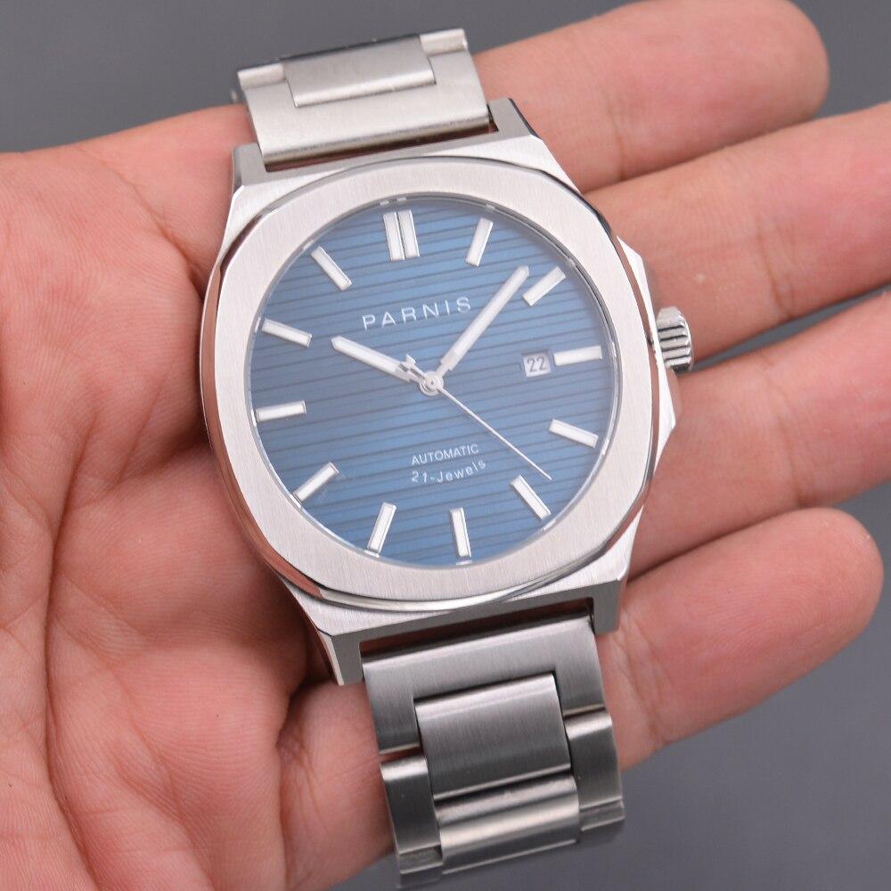 New Parnis 42MM Mechanical Automatic Men Watches Clock Diver Sapphire Crystal Men's Watch Relojes Para Hombre Marca De Lujo 2020