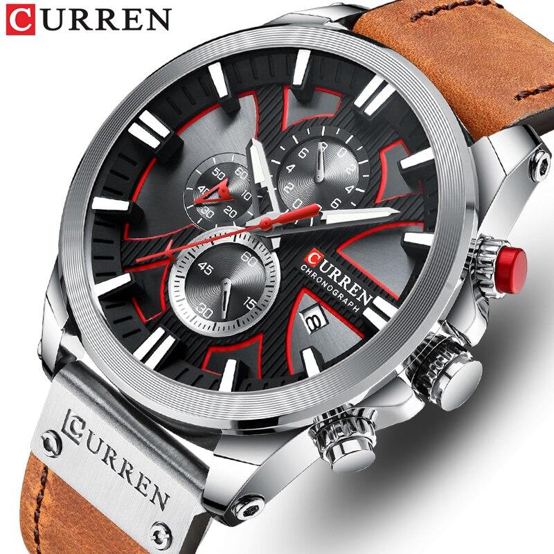 Top Brand Luxury Men Watches CURREN Fashion Quartz Men's Watch Waterproof Sport Wristwatch Male Leather Clock Relogio Masculino