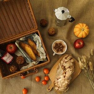 Image 3 - יוטה בד כותנה פשתן בד רטרו אפקט צילום תפאורות Props מזון קוסמטיקה לירות רקע חומר פריטים