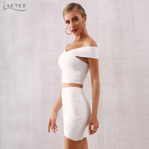 Image 5 - ADYCE 2020 ฤดูร้อนใหม่ผู้หญิง Bodycon ผ้าพันแผลชุด Vestidos 2 ชิ้นชุด Top V คอคนดังชุดราตรีชุดปาร์ตี้