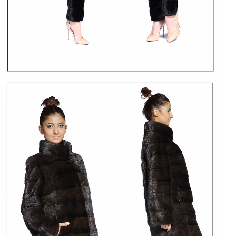 Real Fur Coat Mink Women Winter Natural Fur Mink Coats And Jackets Female Long Warm Vintage Women Clothes 2019 Plus Size 6XL 7XL 85