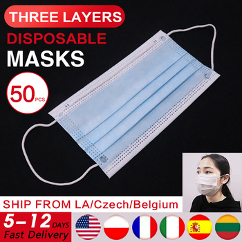 100pcs Disposable Face Mouth Mask Breathing Mask Mask White Mask Elastic Face Mask Filter Mouth Masks