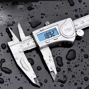 Image 4 - 電子デジタルノギス 150 ミリメートル防水 IP54 デジタルノギスマイクロメータゲージステンレス鋼ノギス測定ツール