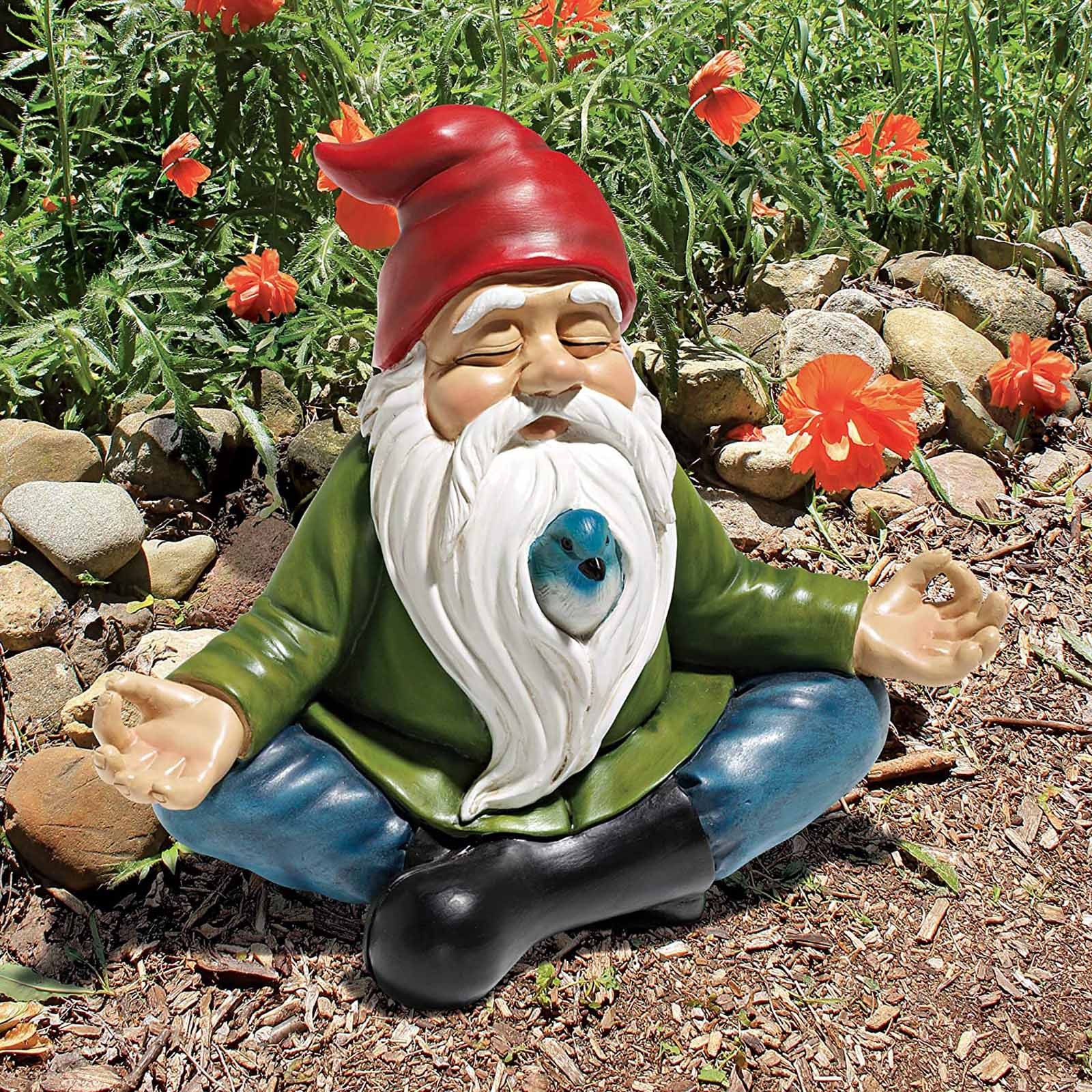 Garden Dwarf Statue-resin Dwarf Statue Full Color Zen Garden Gnome Statue Gnomes Ogród Садовые Фигуры Большие Figurines#g3
