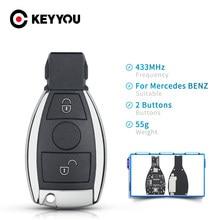 KEYYOU 2 boutons clé à distance intelligente pour Mercedes Benz année 2000 + prend en charge d'origine BGA 315MHz ou 433.92MHz 3 boutons