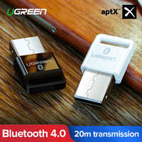 Ugreen USB Bluetooth Trasmettitore Ricevitore 4.0 Adattatore Dongle aptx Cuffia Senza Fili PC Musica Recettore Audio Bluetooth Adattatore