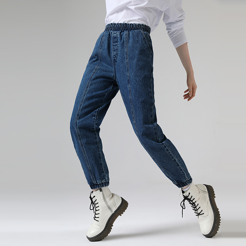 Toyouth 2020 Spring Loose Angle-Length Pants Jeans Denim Pants Harem Jeans For Women Trousers