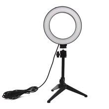 Verstelbare Mini Statief Selfie Stok Ring Led Licht Mount Houder Desktop Camera Accessoires Voor Voor Youtube Live Make Up