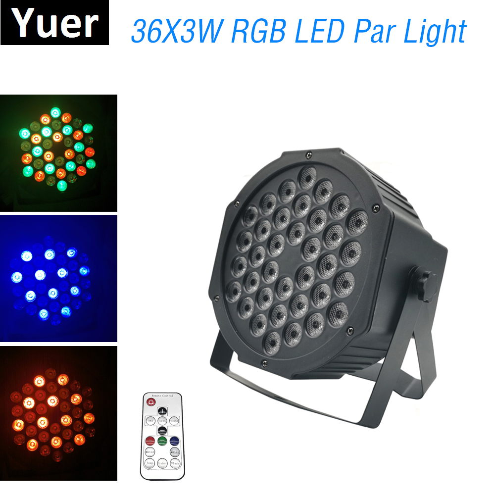 1Pcs/Lot LED Par Lights 36X3W RGB LED Stage Lights DMX512 Par Lights Good For Disco DJ Projector Machine Party Home Decorations