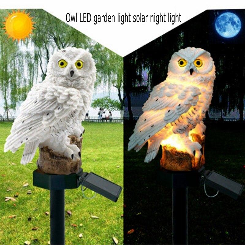 LED Garden Light Outdoor Waterproof Solar Owl Shape Night Light Solar Lawn Light Home Garden Decoration Creative Solar Light