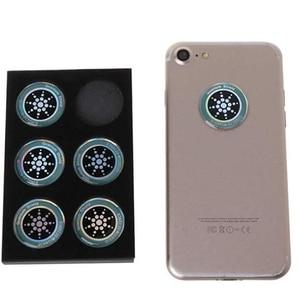 Image 5 - DHL 50 boîtes rondes scalaire bouclier quantique autocollant dénergie Ion négatif Anti rayonnement Protection pour EMF EMR Fusion autocollant de téléphone