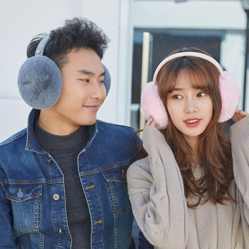 Unisex Winter Warm Bluetooth Earmuffs Wireless Plush Earphone Music Ear Warmers