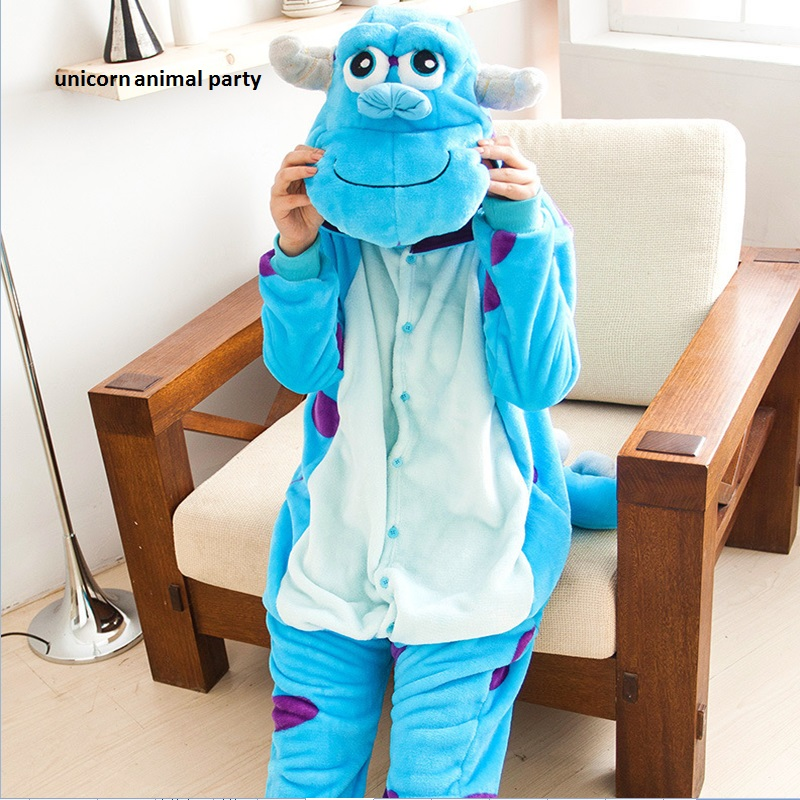 Kigurumi Blue Monster University Sulley Sullivan Onesies Pajamas Cartoon Costume Cosplay Pyjamas Party Dress Pijamas