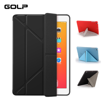 Flip Case for iPad Air 3 2019 Case, GOLP Ultra Slim Magnetic PU Leather + Hard PC Back Smart Cover for ipad Pro 10.5 2019 case for ipad pro 9 7 inch ultra slim smart cover leather case with matte translucent back case for apple ipad pro no iprs4