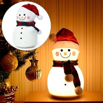 Muñeco de nieve juguetes eléctricos baile mueve luz USB música Suave y brillante luz de noche dibujos animados juguete de plástico niños y niñas regalos de navidad