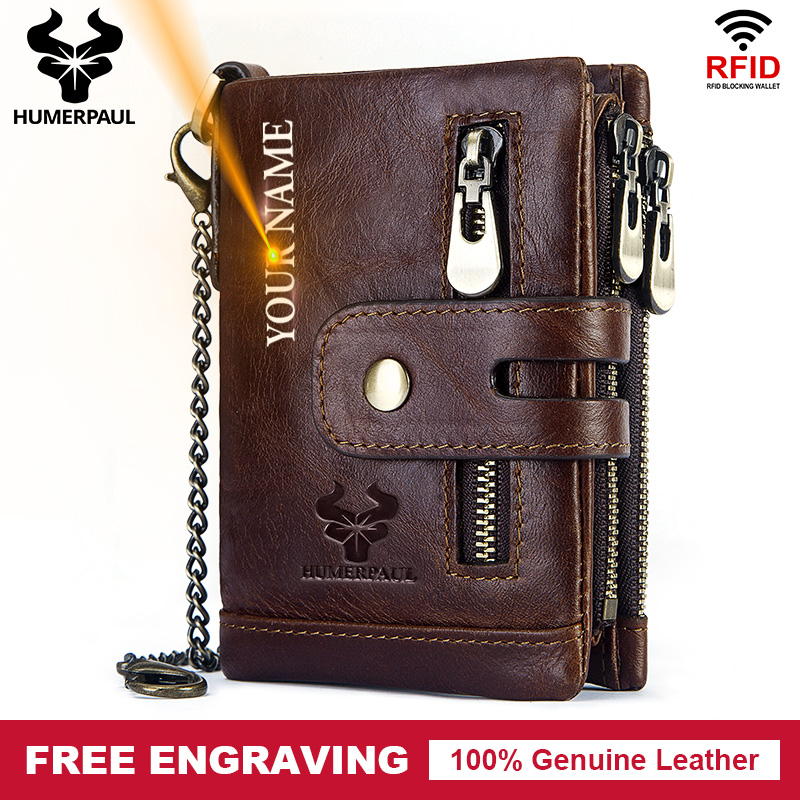Free Engraving 100% Cowhide Genuine Leather Men Wallet Coin Purse Small Mini Card Holder Vintage PORTFOLIO Portomonee Hasp Male