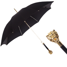 Reverse Long Handle Umbrella Windproof Light Lion Head Umbrella Retro Dual Use Parasolka Damska Household Merchandises EF50UB