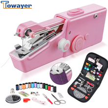 Portable Mini Hand Sewing Machine Electric Stitch Household Cordless Needlework Set for Quick Repairs DIY Clothes Stitchin