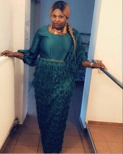 Image 5 - 2020 Mới Nhất Pháp Nigeria Dây Vải Vải Tuyn Cao Cấp Phi Dây Vải Cho CướI Ren Vải 2 Thước SW002A Xanh