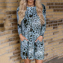 Элегантные вечерние женские мини платья с леопардовым принтом