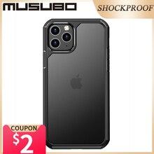 Boîtier antichoc en Silicone souple Musubo pour iPhone 11 Pro Max housse Ultra transparente 11 Pro Coque arrière Fundas Coque AirBag de luxe