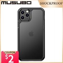 Musubo 소프트 실리콘 Shockproof 케이싱 아이폰 11 프로 최대 울트라 클리어 케이스 커버 11 프로 뒷면 커버 Fundas 럭셔리 에어백 Coque
