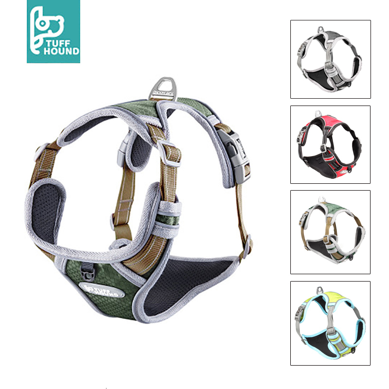 TUFF HOUND Pet Products Nylon Dog Harness Vest K9 Breathable And Comfortable Dog Harness Belt Large  Small Bulldog Quick ReleaseHarnesses   -