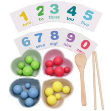 Kids Early Educational Toys Clip Beads Fishing Wooden Magnetic Worm Game Baby Desktop Parent-child Toys factory direct wholesale billiard game billiards color matching cognitive parent child game desktop classic toys kids wood toys